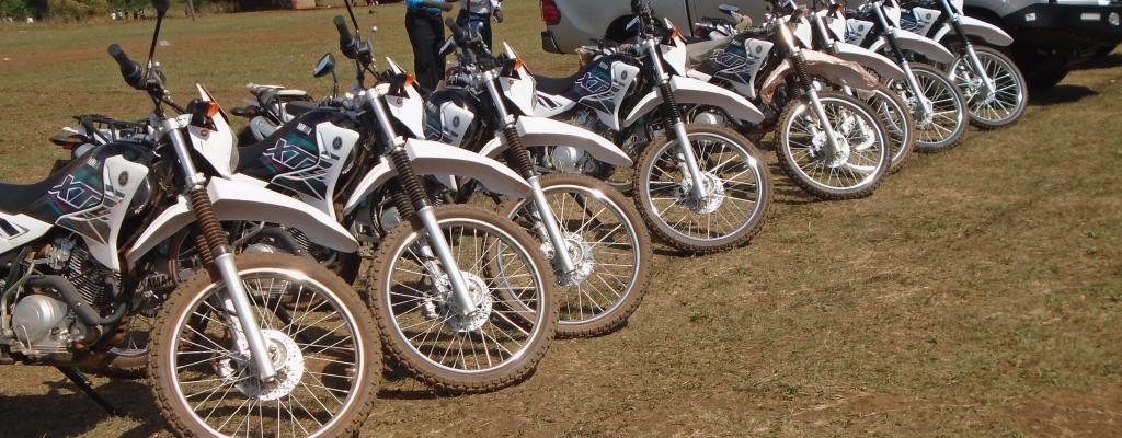 motorcycles and vehicles received for start up
